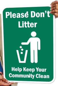 dont-litter-aluminum-sign-k-2327