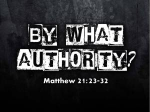 authority matt 21