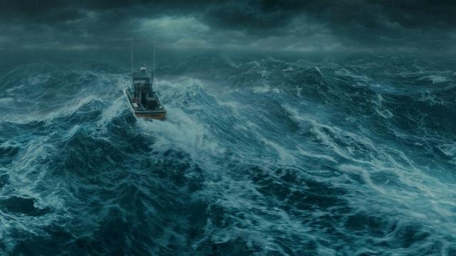 storm sea boat