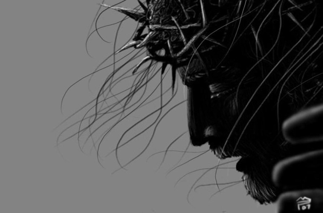 crucified_jesus__the_face_by_devcager