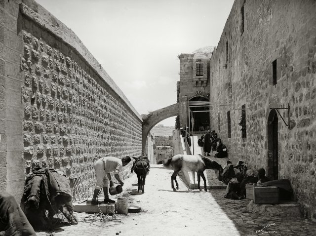 Via Dolorosa, beginning of route, mat06605