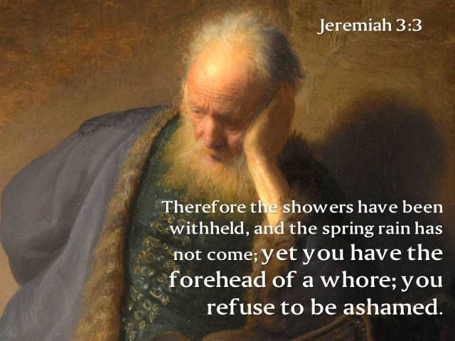 jeremiah 3 3