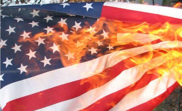 Burning-American-Flag