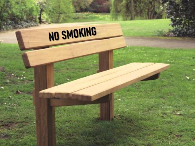 bench no smoking