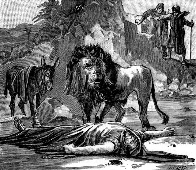 11013024 FST - 1 Kings 13 24 - A lion kills the prophet from Judah