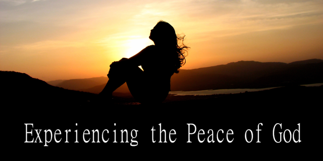 peace of God experiencing