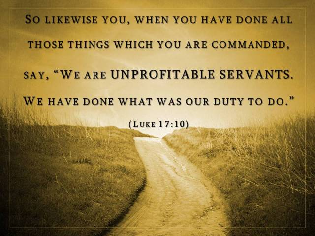 unprofitable servant