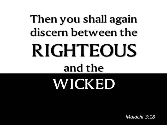 righteous wicked malachi