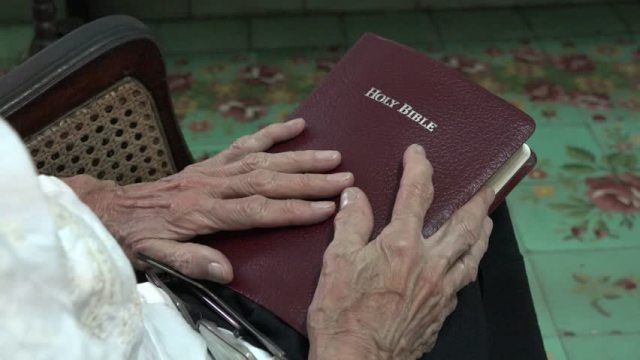 bible aged person